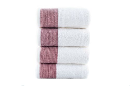 Venice 100-percent Luxury Turkish Combed Cotton, Jacquard 4-Piece Hand Towels