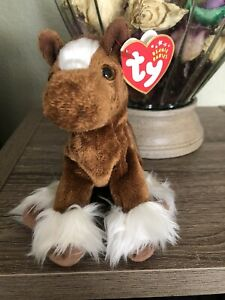 TY Beanie Baby - HOOFER the Clydesdale Horse (6 inch) - MWMTs Stuffed Animal Toy
