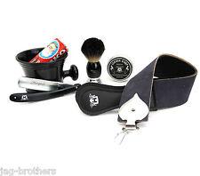 Professional Barber Complete Vintage Shaving Set Shaving Mug Badger hair Brush
