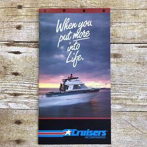 Vintage-Boat-Dealer-Sales-Brochure-1986-Cruisers-Boating-Sea-Devil-Vee-Holiday