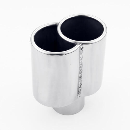 "Pair Straight Cut Out Porsche Style 2.5/"" Inlet Exhaust Tips for Custom Exhausts"