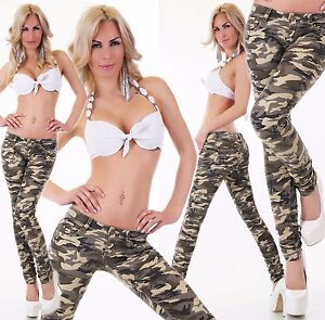 Women-039-s-camouflage-pants-hipsters-Skinny-jeans-Military-Style-Pant-Size-6-14-HOT