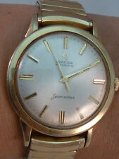 Omega Seamaster Automatic Watch Vintage 1960s 14K Gold Filled 17J Men's