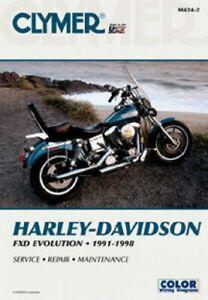 1991-1998 Harley-Davidson FXD Evolution Dyna Glide Clymer Motorcycle on harley custom wiring diagrams, 1999 softail wiring diagrams, dyna shift minder wiring diagrams,