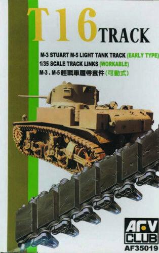 Afv Club 35019-1//35 T-16 Track M3//M5//M8 Stuart Workable Neu
