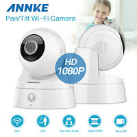 Annke 2x 1080p Wireless P&t Network Home Security Ip Camera 3d Dnr Pir Sensor