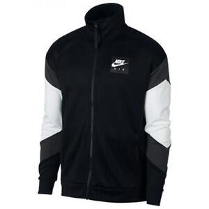 Details about Nike NSW AIR POLYKNIT Men's Jacket AJ5321-010  Black/White/Gray sz 2XL