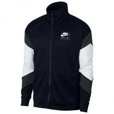 MEN/'S NIKE AIR MAX JACKET AJ5321-100  WHITE BLACK FULL ZIP  $100 Retail L or 2XL