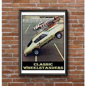 Classic-Wheelstanders-Poster-NHRA-Vintage-Drag-Racing-4-Historic-Vehicles