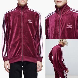 Besugo Galaxia dedo  Adidas Originales Para Hombre Chaqueta de pista de terciopelo Beckenbauer  Marrón Pequeña DH5789 Nuevo con etiquetas | eBay