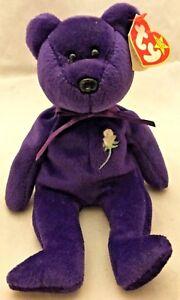 Charitable Donation Ty Beanie Baby Princess Diana Bear Retired 1997 NWT RARE