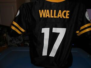 c266a7339 Image is loading Vintage-Mike-Wallace-PITTSBURGH-STEELERS-Team-Apparel -Jersey-