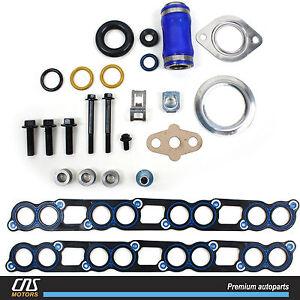 EGR Delete /& Oil Cooler Kit For 2003-07 Ford F250 F350 E350 6.0L Diesel Turbo