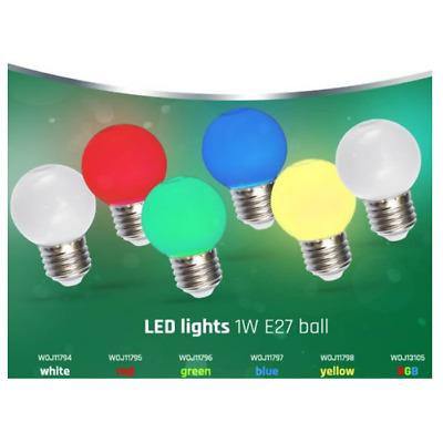 LED E27 Farbige 1W Lampe Glühbirne Lichterketten RGB Gelb Rot Blau Grün Weiß   eBay