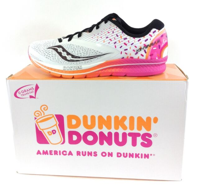 NEW Womens SAUCONY Kinvara 9 Dunkin' Donuts S10418 18 Boston Sneakers Shoes