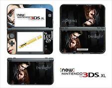HAUT STICKER AUFKLEBER - NINTENDO NEU 3DS XL - REF 46 TWILIGHT