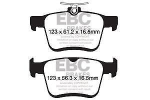 DP42153R EBC Yellowstuff Rear Brake Pads fit AUDI SKODA VW
