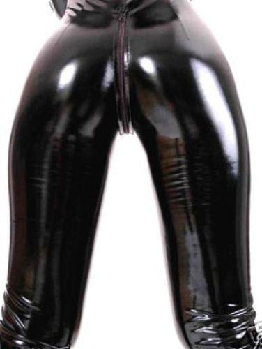 4 Way Zip  Fetish Bondage  Stretch Sexy PVC LATEX Catsuit Size 10-12 Free P&P