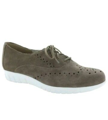 $200 Munro Wellesley Womens Brown Suede Oxfords Sneakers Flats Casual Shoes