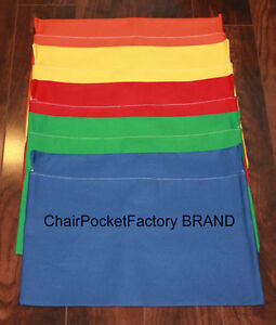 """SET OF 25 MEDIUM CHAIR POCKETS ~ Seat Sack Any COLOR FITS Chairs 13"""" WIDE"""