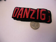 DANZIG Fuzzy logo IRON/SEW ON EMBROIDERED PATCH NEW 4x2 GLENN misfits PUNK