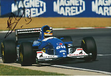 Mark Blundell Hand Signed Ligier Gitanes Blondes F1 12x8 Photo.