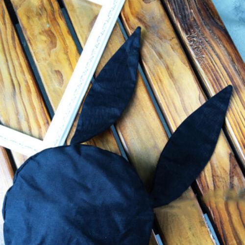 Japanese Kawaii Harajuku Hat Gorro Black Rabbit Bunny Ears Beanie Beret Cap G