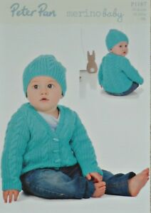 91c66b82d37 Image is loading KNITTING-PATTERN-Childrens-Long-Sleeve-Cable-Cardigan-amp-