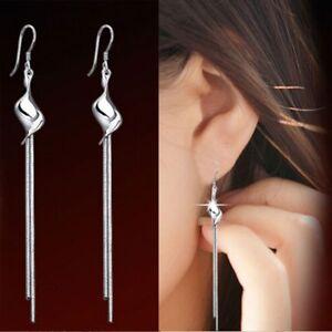Women-For-Jewelry-Drop-Promotion-New-Elegant-Silver-Plated-Long-Earrings