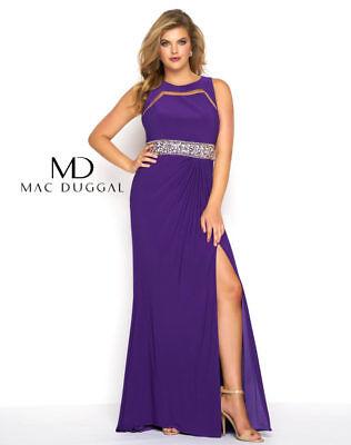 Authentic Mac Duggal 65466 Dress-Color:Royal Purple-Size:16W-Prom Dress-Reg  $398 | eBay