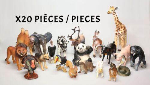 Figurine plastique Animaux (Les) Lot de 20 animaux Delprado