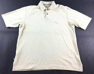 Tommy-Bahama-Marlin-Mens-Tan-Short-Sleeve-Polo-Shirt-Size-Medium