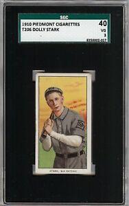 Rare-1909-11-T206-Dolly-Stark-Piedmont-350-Southern-League-SGC-40-3-VG