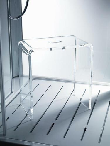 Tabouret De Laine Acrylique Transparent 390 x 220 x 405 mm