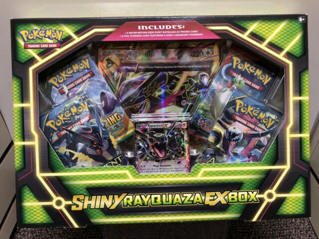 Pokemon Xy Shiny Rayquaza Ex Box Card Game 4 Booster Pack Mega Ex 1 Promo