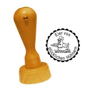 Hühner Stempel « Eier Von Glücklichen Hühnern 02 » Henne Hühner Huhn Ei Hühnerhof Bauer Moderate Kosten