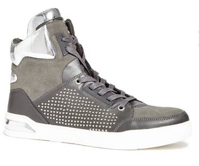 G By Guess Men's Theron High-Top Sneakers Gray Color SZ  8.5