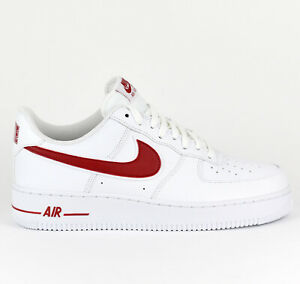 d335ee1b05a6 Nike Air Force 1  07 3 AF1 Men Lifestyle Sneakers New White Gym Red ...