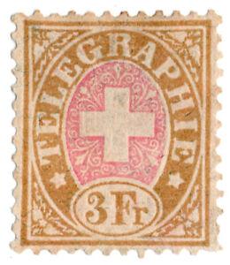 I-B-Switzerland-Telegraphs-3Fr-Brown-amp-Pink-1881