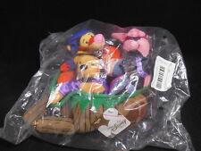 Disney Winnie The Pooh Halloween Wheelbarrow Bean Bag Plush Set SEALED NWT