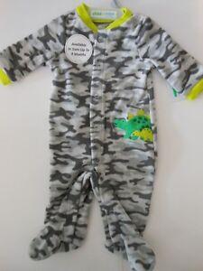 f4725580840a6 Details about Pajamas Baby boys sleepwear Boys Camouflage Pj's Boys clothes  Dinosaur Newborn