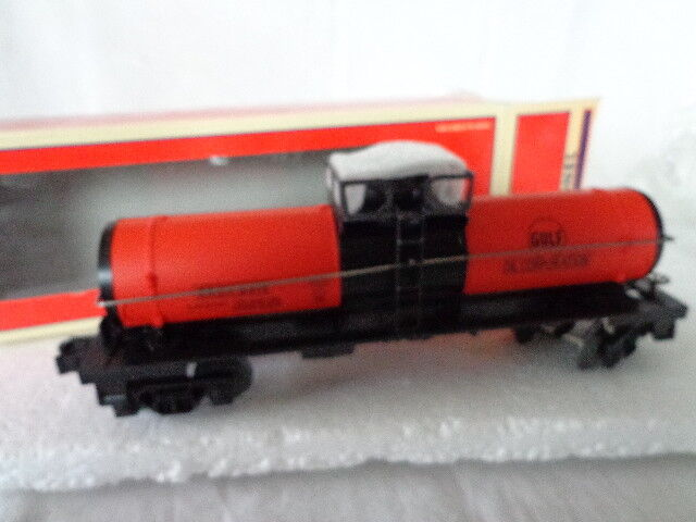 LIONEL O AND O27 GAUGE GULF SINGLE DOME TANK CAR
