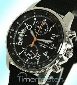 Seiko Sport Quartz Chronograph Tachymeter Black Face and Nylon Strap SNN079P2 - <span itemprop='availableAtOrFrom'>West Yorkshire, United Kingdom</span> - In the unlikely event that you have a problem with your purchase, please contact us immediately and we will do all we can to resolve the issue. Returns are accepted within 14 days  - West Yorkshire, United Kingdom