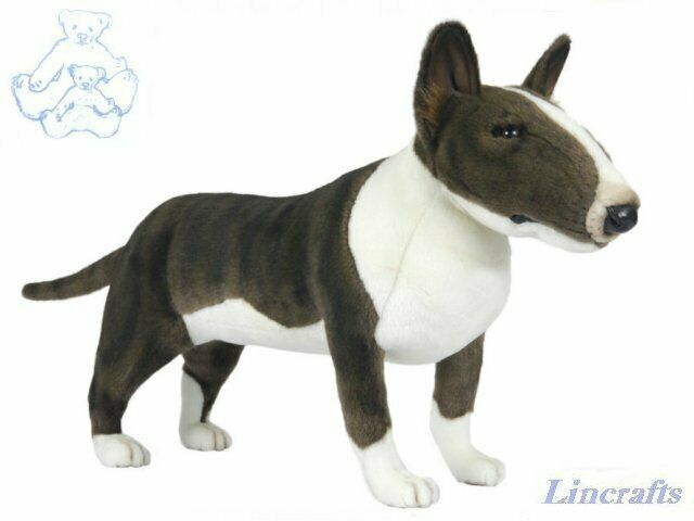 Hansa Standing Bull Terrier 7253 Soft Toy Dog Sold by Lincrafts Established 1993