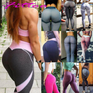 Women Finess Yoga Push Up Leggings With Pockets Pants Soft Sports Gym Trousers