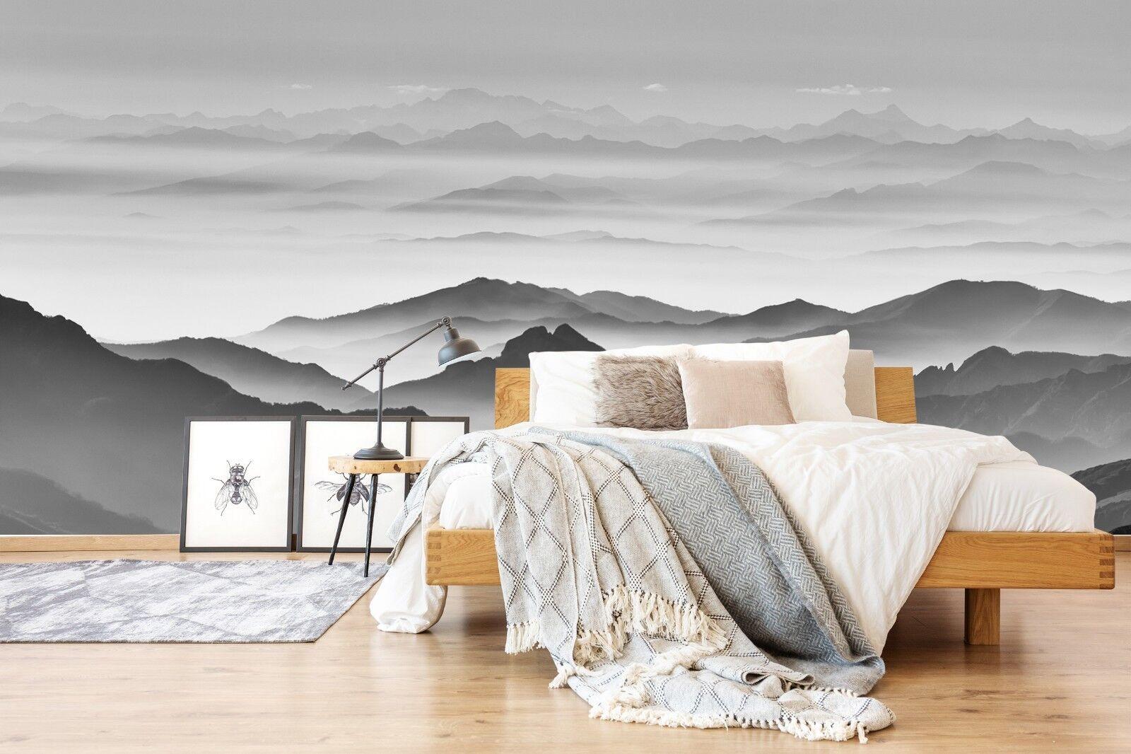 3D Sketch Mount Sky 291 Wallpaper Mural Wallpaper UK Jenny