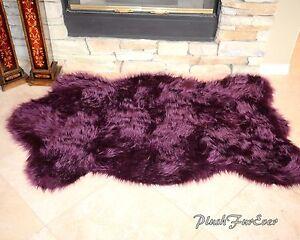 Nursery Rug 5x7 Purple Lavender Plush Shaggy Flokati