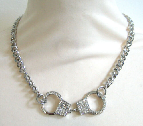 Butler and Wilson Crystal Handcuff Necklace NEW
