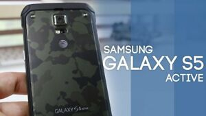 New-SEALED-Samsung-Galaxy-S5-Active-G870A-Unlocked-Smartphone-Camo-Green-16GB