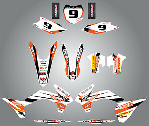 Custom Graphics for KTM SX XC SXF 125 250 450 - 2013-2015 - STORM style full kit